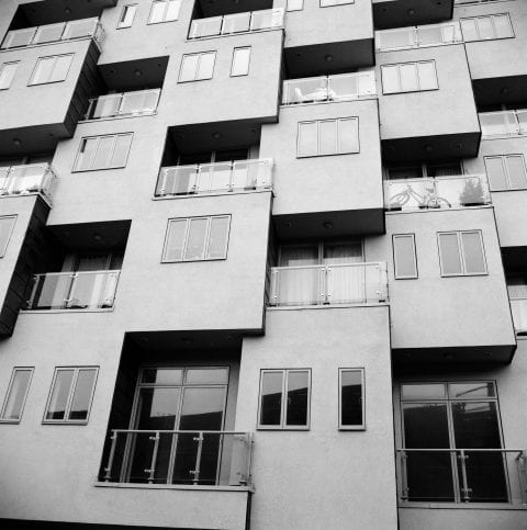 Abstract Apartment Windows