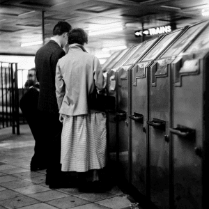 Vintage Underground Ticket Machine