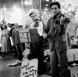 Vintage Two Buskers